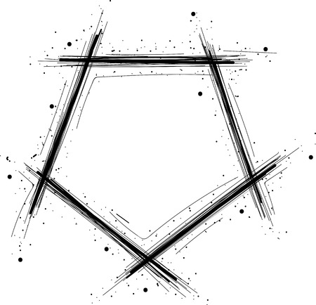 Hand drawn geometric frame with space for text Illustration