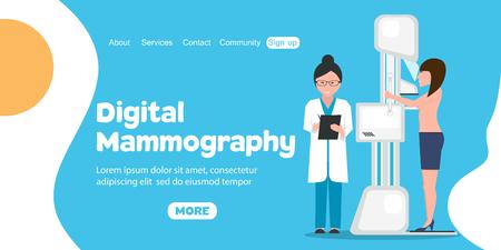 Digital Mammography banner Illustration