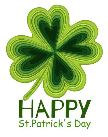 Irish lucky Saint Patricks day holiday element