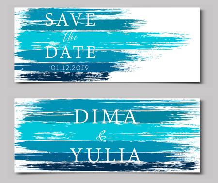 Wedding invitation or anniversary card templates Ilustração