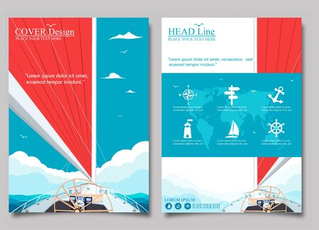 Sailing ship with red sail posters