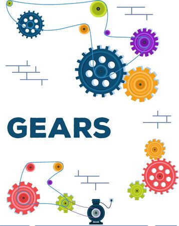 Mechanism from rotating gears and cogs