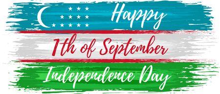 Uzbekistan independence day holiday celebrate card