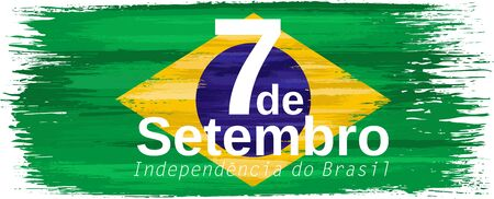 Brazilian independence day holiday celebrate card Stock Illustratie