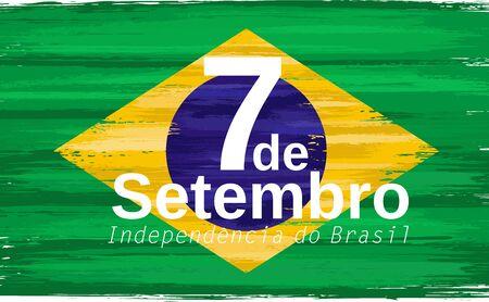 Brazilian independence day holiday celebrate card Illustration