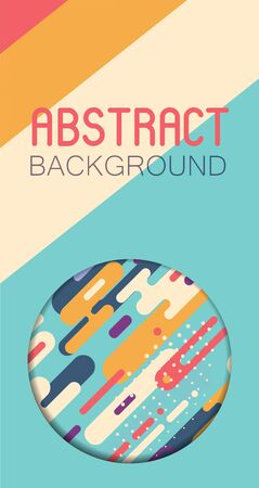 Abstract background with colorful rounded shapes Illustration
