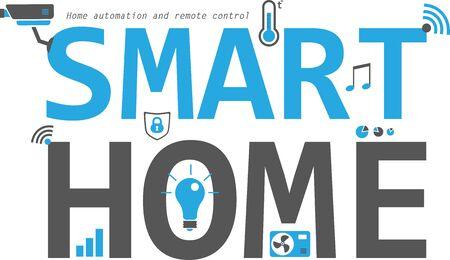 Smart home flat icons set