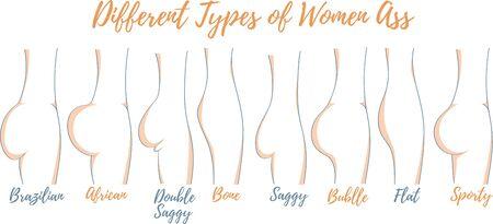 Différents types d'illustration vectorielle de femmes Vecteurs