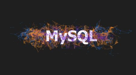 Mysql Database Banner With Colorful Plexus Design Software Technology Stock Photo Picture And Royalty Free Image Image 135236075