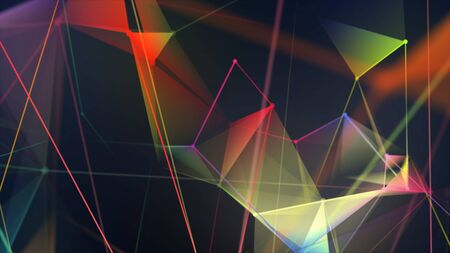 Colorful abstract background with plexus elements