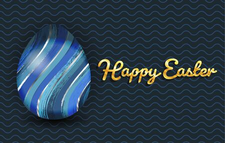 Happy easter banner with colorful egg
