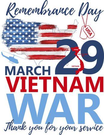 National vietnam war veterans day banner