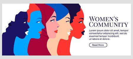 Women community and feminism movement.