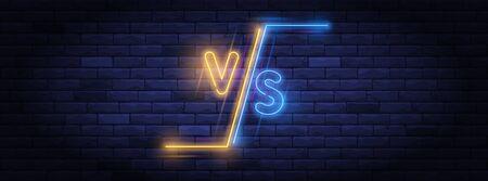 Illuminated neon versus screen design Banque d'images