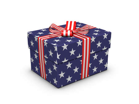 Gift for the Independence Day. Stock Photo - 9815884
