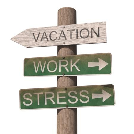 木製の休暇の標識です。白い背景で隔離 写真素材