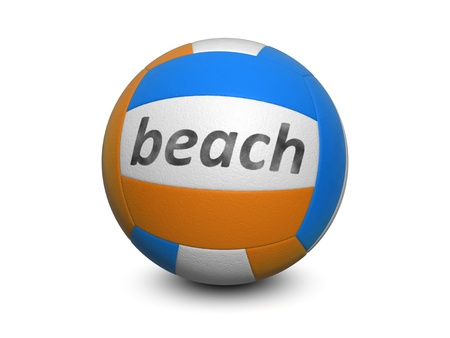 Beach volleyball. Isolated on the white background photo