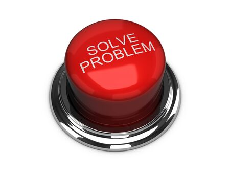 solve problems: Solve the problem button. Isolated on the white background