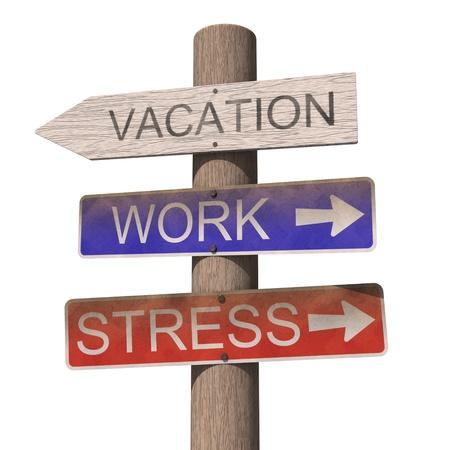 Houten vakantie teken. Geà ¯ soleerd op de witte achtergrond