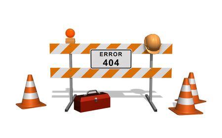エラー 404。建設中のサイトです。