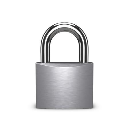스테인리스 자물쇠는 흰색 배경에 고립.