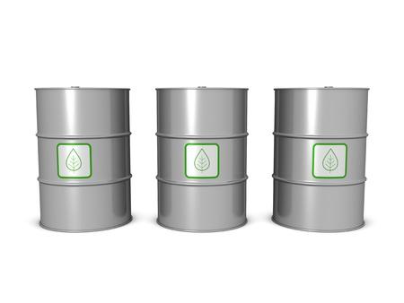 Biofuel barrels, isolated on the white background. Stock Photo - 10191049