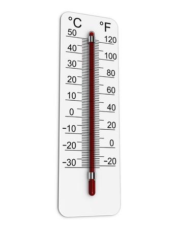 온도계는 매우 높은 온도를 나타냅니다.