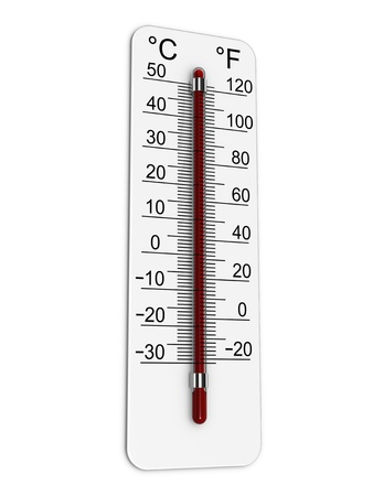 Thermometer indicates extremely high temperature. Stock Photo - 10277841