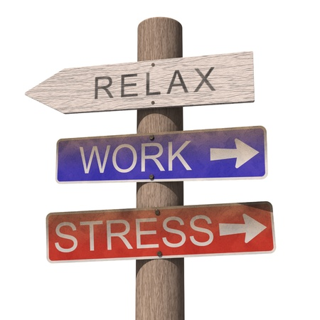Wooden sign with Relax label. Isolated on the white background
