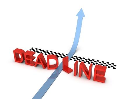 Deadline and success. 3d illustration on the white background. illustration