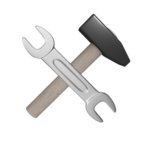 Stylized tools icon. Isolated on the white background.