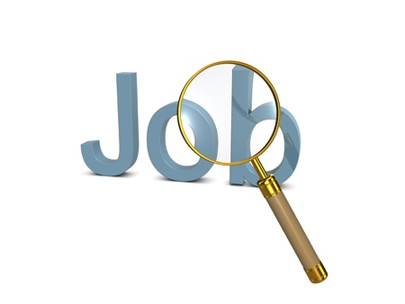 Looking for job. 3d illustration on the white background. Stock Illustration - 10470828