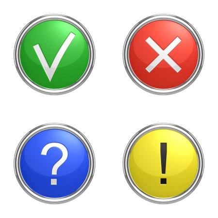 Set van informatie iconen.