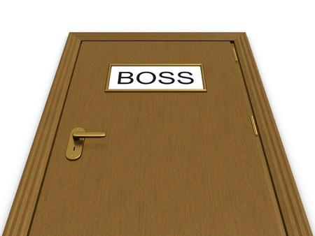 warden: Puerta de la Oficina del jefe. Ilustraci�n 3D.