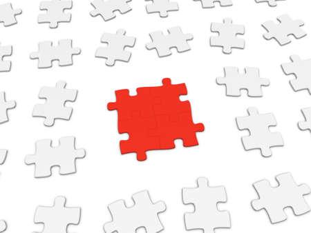 Friendship concept. 3d puzzle pieces. Stock Photo