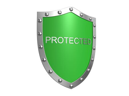 Protection shield. Isolated on the white background. photo