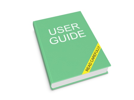 User guide. Isolated on the white background.