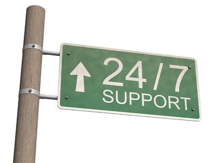 顧客サポートの記号。白い背景上に分離。 写真素材