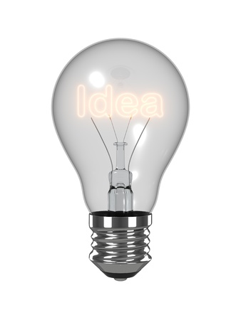 Idea light bulb. Isolated on the white background. Stock Photo - 10841676