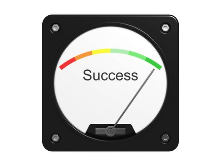 Success measuring device. Isolated on the white background. Stock Photo - 10998318