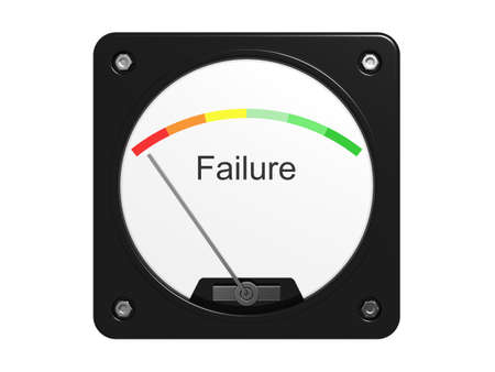 Failure measuring device. Isolated on the white background. photo