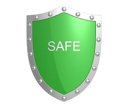 caja fuerte: Escudo de protecci�n