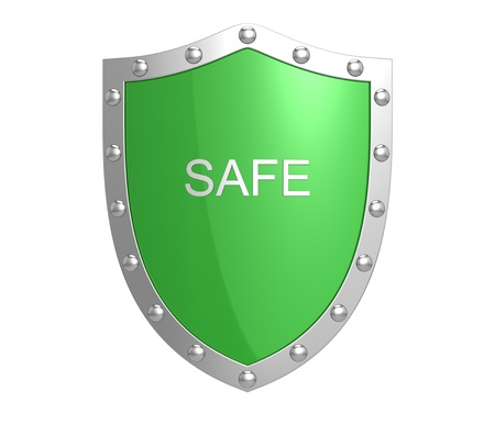 secure site: Protection shield