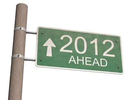 New Year 2012 sign. 3d illustration. Stock Illustration - 11148062