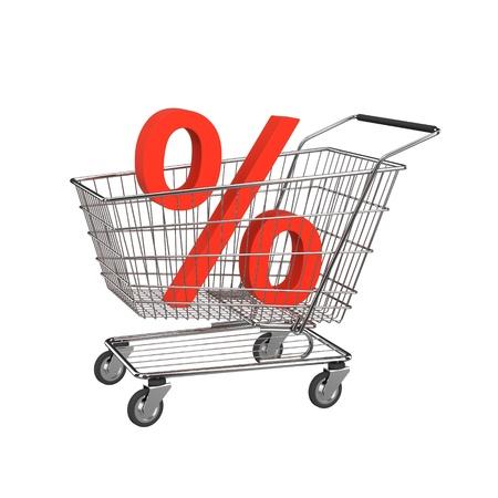 Discount shopping cart. Stock Photo - 11148061
