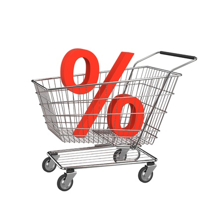 Discount shopping cart. Stock Photo - 11148061