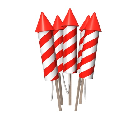 Bunch of New Year fireworks rockets. Stock Photo - 11148055
