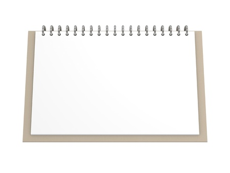 Blank office calendar Stock Photo - 11275548