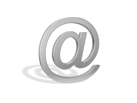 addressee: Email symbol on the white background Stock Photo