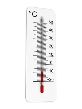Thermometer geeft aan lage temperatuur